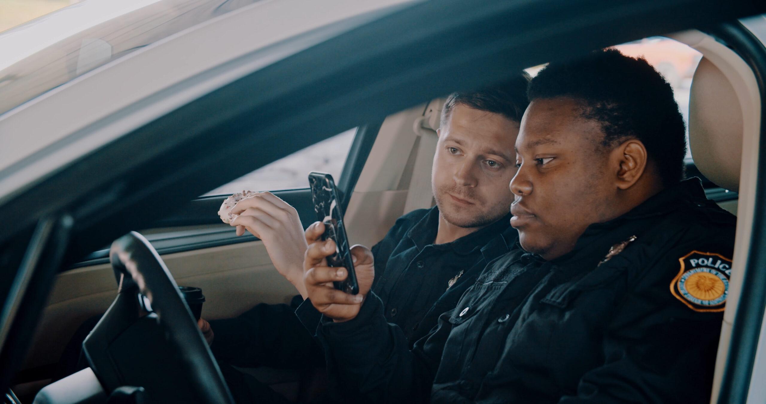 two policemen looking